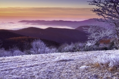 Cold Mountain Red Ice Sunrise